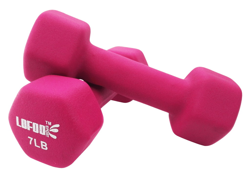 Pink Dumbbell weights