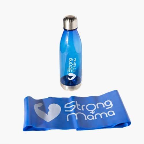 בקבוק מים + גומיית התנגדות סטרונג מאמא